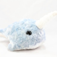 Stuffed Animal Narwhal Light Blue Ultracuddle Plush Toy Plushie Softie in Large
