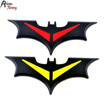 Batman Dark Knight gift Christmas Rhino Tuning 2PC Batman Car Metal Emblem Badge Superhero Sticker Auto For Granta Solaris Gazelle Duster # 588 AT_71_6