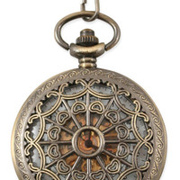 Mechanical Pocketwatch - Antique Gold Lacy Design