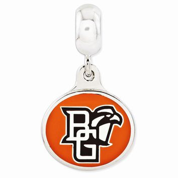 Sterling Silver Bowling Green University Collegiate Enameled Dangle Bead