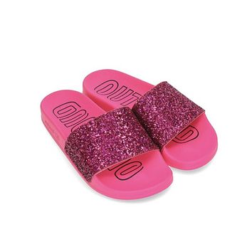 Adidas Women's Adilette Slides 'Out Loud Pack' Shock Pink