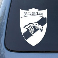 "(2x) Ravenclaw Shield Inspired by Harry Potter Car Sticker Auto Emblem Vinyl Decal(WHITE 7"" CD-0365)"