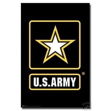Us Army Poster Logo Rare Hot New 24x36
