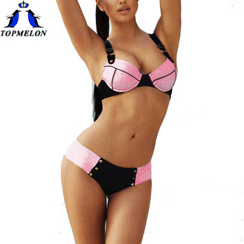 push up bikini  swimwear beach wear  2016 Bathing suit biquini women swimsuit  Bathing Suit departure beach biquini bodysuit