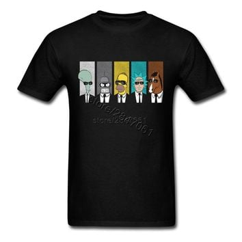 2017 New rick morty tshirt  Cool TV Tee Men  Tees Shirt Couple Geek Short Sleeve Boyfriend's Tees Shirt XXXL Hip Tee