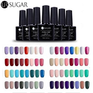 UR SUGAR UV Gel Polish Soak Off Gel Lacquer UV Led 7.5ml Nail Art Gel Polish Varnish Vernis Semi Permanent Top Coat Base Coat