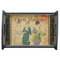 French Postcard Serving Tray