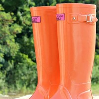 rain boots with southern label