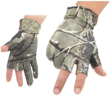 3 Half-Finger Fishing Gloves