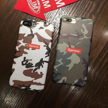 Supreme lux camouflage military army new 2017 shock proof case cover for iPhone 7
