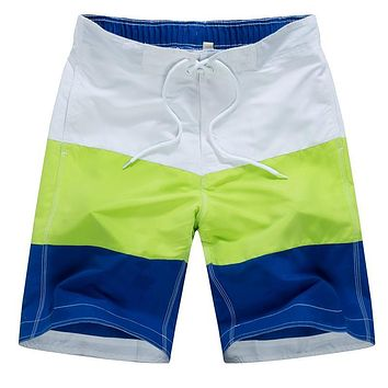 Tailor Pal Love Beach Shorts Men Casual Striped Boardshorts Beachwear Short Masculino Summer Mens Shorts Quick Dry Polyester