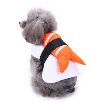 Funny Halloween Clothing For Dogs Winter Dog Clothes Sushi Cosplay Suit Cat Costume Pet Coat French Bulldog Jacket Xmas Outfit