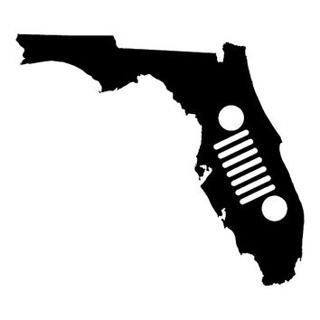 FLORIDA JEEP VINYL STICKER