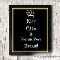 Once Upon a Time Sign, Rumpelstiltskin, Keep Calm Dearie, ABC Television Art Printable, 8 X 10 Print Wall Art Decor Poster, INSTANT DOWNLOAD