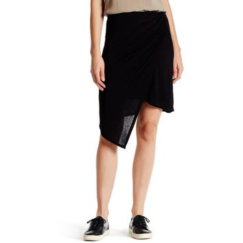 Black Asymmetrical Draped Wrap Skirt  Size S- M