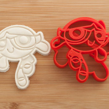 Powerpuff Girls. Buttercup. Cookie cutters. Gingerbread and cookies.