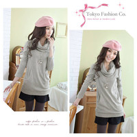 New Arrival Soft and Comfortable Stack-neck Design Knitting Blouse  - Sammydress.com