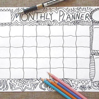 coloring month journal doodle monthly journaling printable organize life home to do list agenda organizer notebook download lasoffittadiste