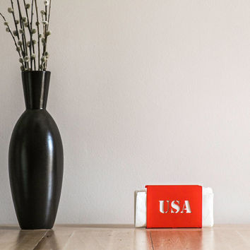 Napkin holder USA laser cut metal
