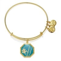 Alex and Ani Truth and Honor Narcissus Charm Bangle - Shiny Gold Fi...