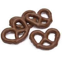 Sugar Free Milk Chocolate Covered Pretzels: 7LB Box