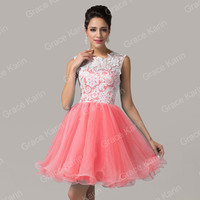 2017 home party dresses, short puffy prom dresses, high neck dresses