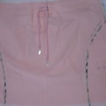 Burberry golf skirt pink with nova check trim