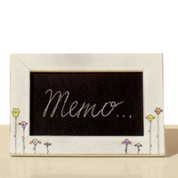 Whimsical Pictureframe with Chalkboard Owls by byAnnoDomini
