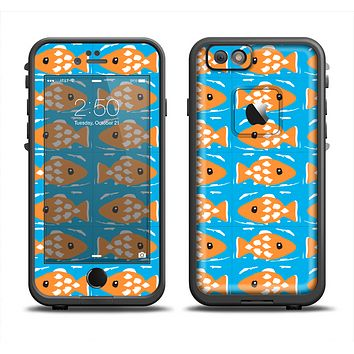 The Seamless Vector Gold Fish Apple iPhone 6 LifeProof Fre Case Skin Set