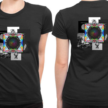 Coldplay Present Albums 2 Sided Womens T Shirt