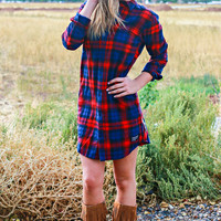 YOUNG & RECKLESS FLANNEL DRESS