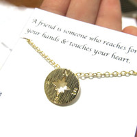 Compass necklace | Gold Compass Necklace | C3