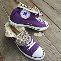 Studded Converse by UrbanRags on Etsy