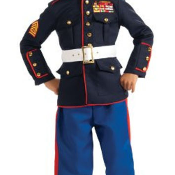 Young Heroes Marine Dress Blues Costume, Small