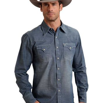 Stetson Orignal Rugged Chambray Snap Shirt