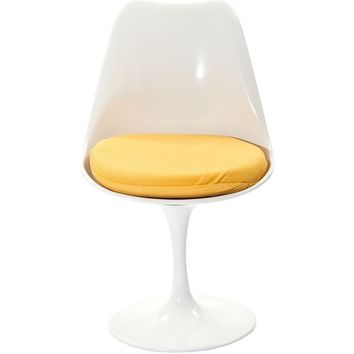 Lippa Dining Fabric Side Chair White