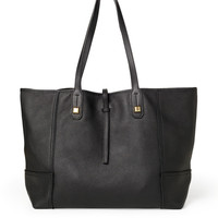 Paris Market Tote- Black Leather