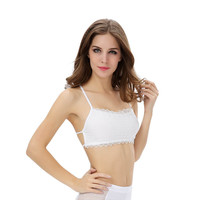 2 Colors Women Sexy Lace Strap Backless Wrapped Chest VesT-Shirt Crop Tank Top Black White Blouse INY66