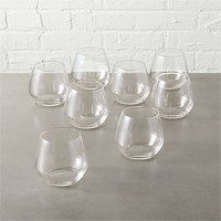 set of 8 blend stemless wine glass.