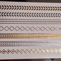 Metallic Flash Gold Bracelets For Days Temporary Tattoos