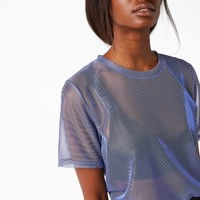 Monki | Tops | Sheer metallic tee