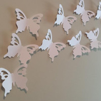 "100 Giant Die Cut Butterflies, Giant Wedding Butterflies, Butterfly Party Decor, DIY Wedding (4 3/8 x 3 3/4"")"