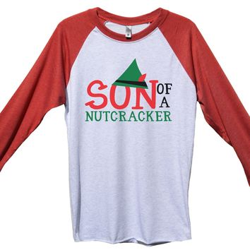 Son Of A Nutcracker Funny Christmas - Unisex Baseball Tee Mens And Womens