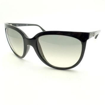 Ray Ban Cats 4126 601/32 Black Grey Fade Sunglasses New Authentic