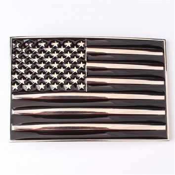 Leather belt buckle Flag belt American flag belt buckel Customize metal flag head