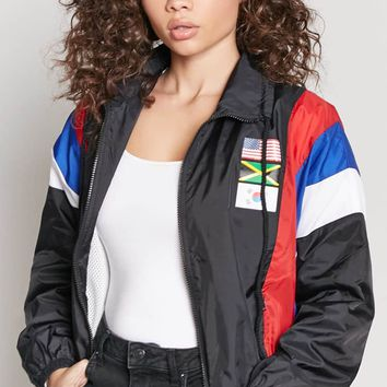 Colorblock Flag Windbreaker
