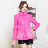 Women : Cotton Padded Flower Printed Winter Jacket YRB0406