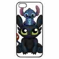 Black, iphone 5 Rubber Case - Lilo & Stitch Toothless Photo Design Durable Rubber Tpu Silicone Case Cover For iPhone 5 5S
