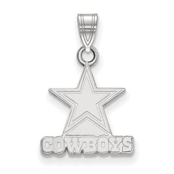 NFL LogoArt Dallas Cowboys Logo Pendant - Sterling Silver or Solid Gold