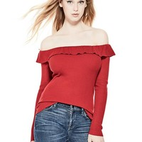 Beatrice Off-the-Shoulder Sweater at Guess